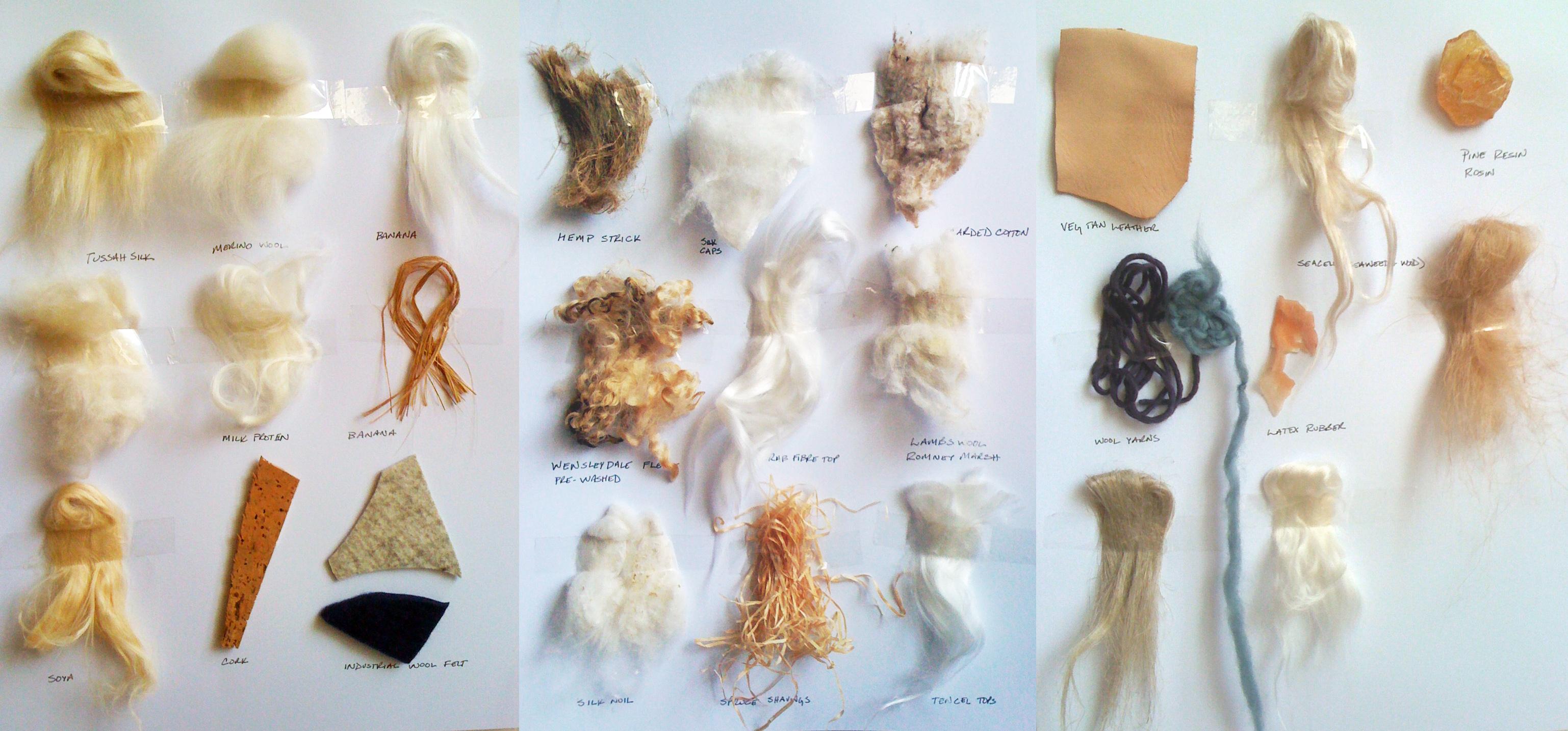 Diferentes fibras de algodão