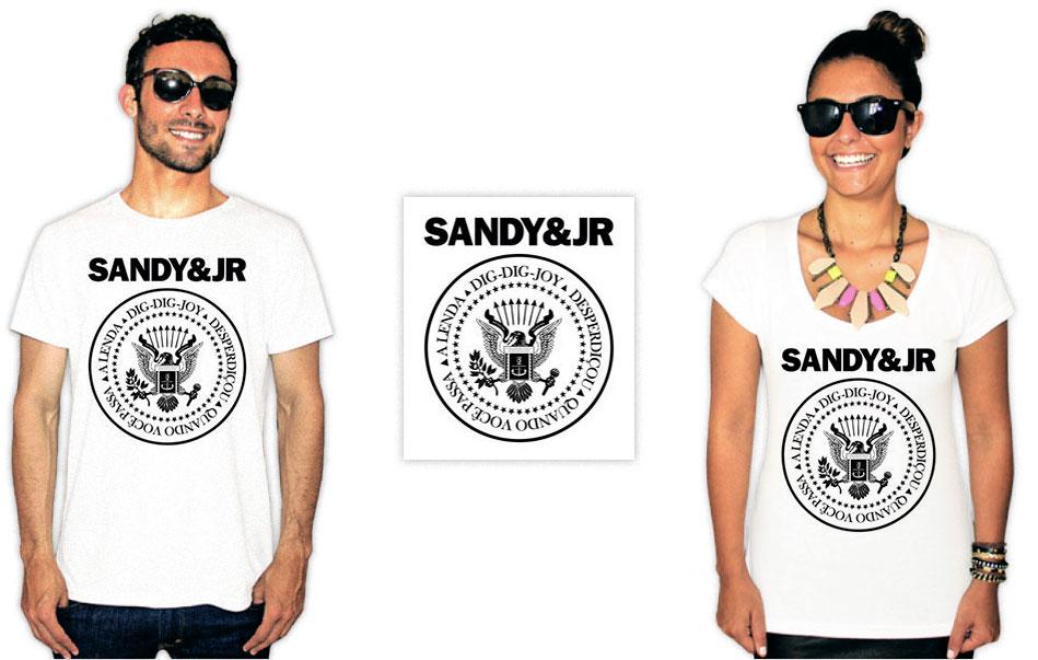 camiseta estilo ramones sandy e junior