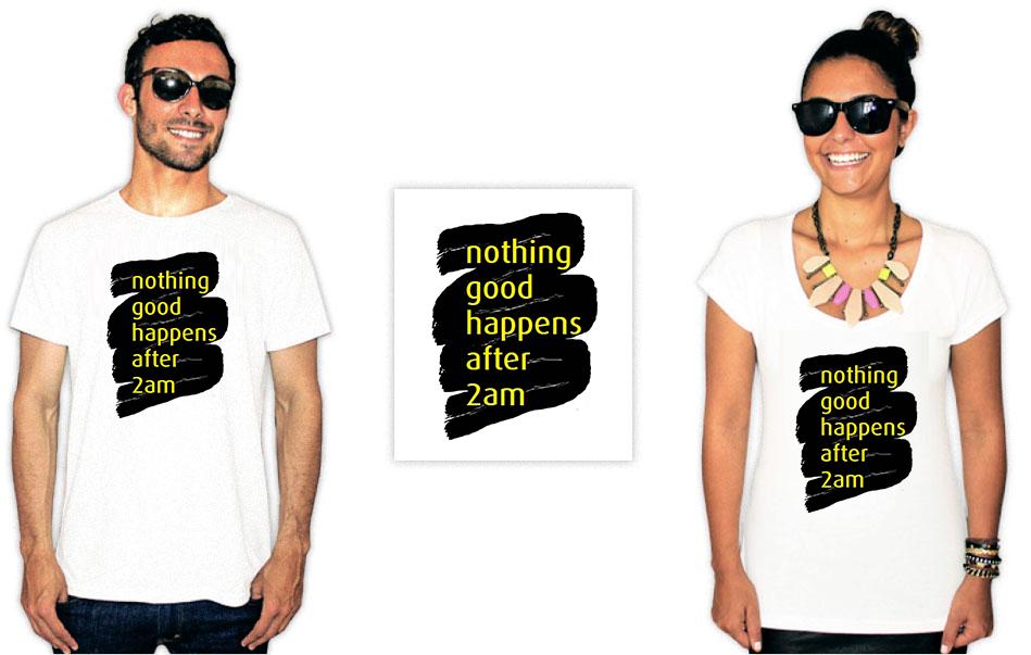 Camiseta com a estampa da série How I met your mother nothing good
