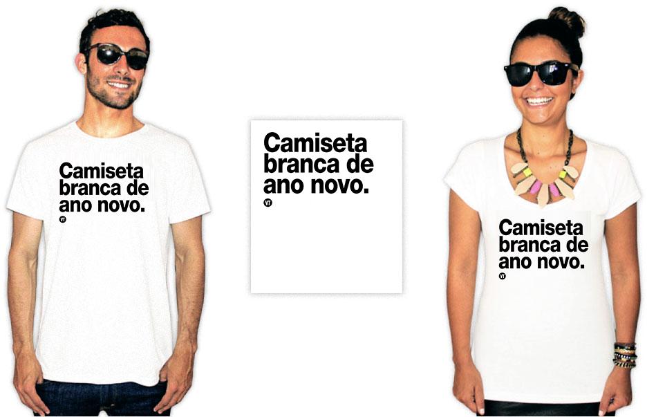 Camiseta com uma estampa escrita camiseta branca de ano novo