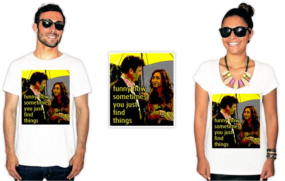 Camiseta com a estampa da série How I met your mother funny how