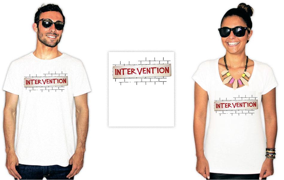 Camiseta com a estampa da série How I met your mother intervention