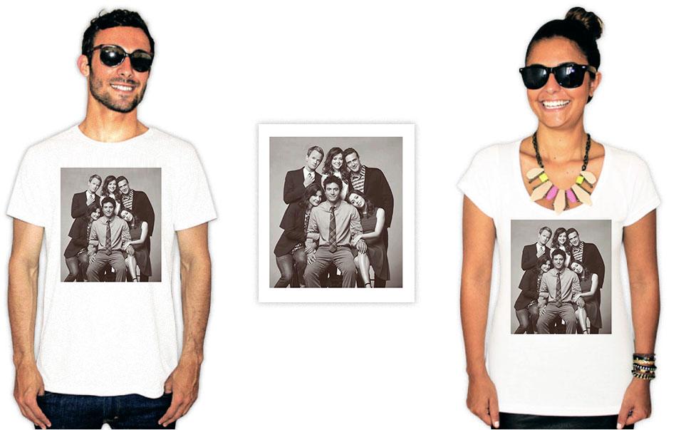 Camiseta com a estampa da série How I met your mother family photo