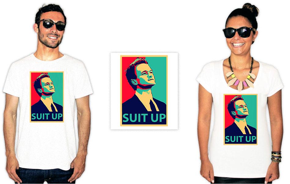 Camiseta com a estampa da série How I met your mother suit up