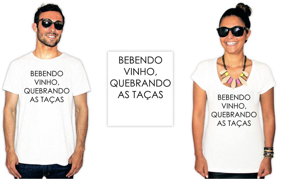 Camiseta com estampa de Baco exu do blues bebendo vinho