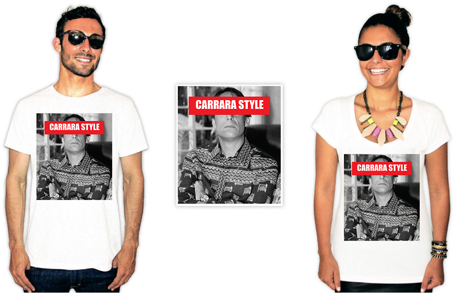 Camisetas com estampa do agostinho carrara estilo
