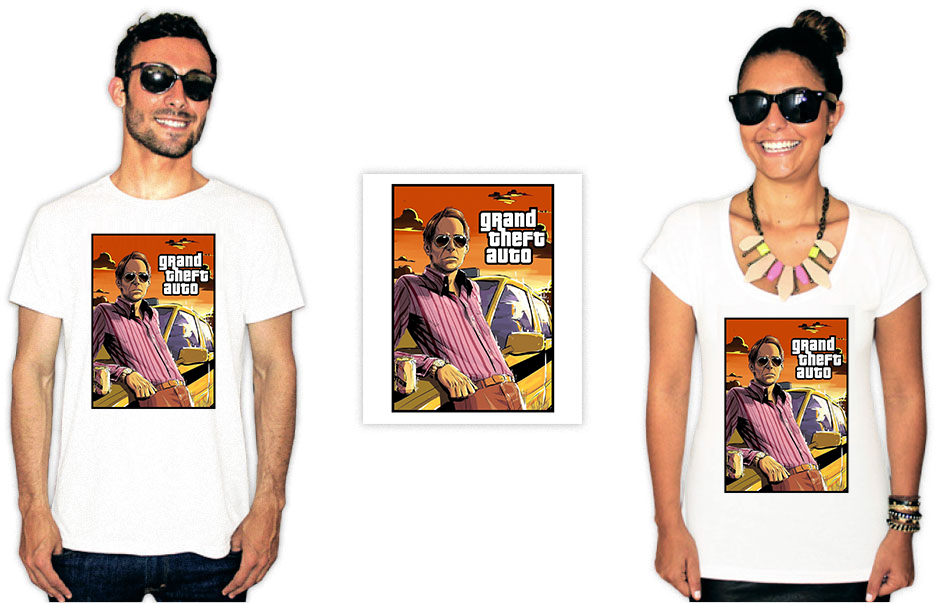 Camisetas com estampa do agostinho carrara gta
