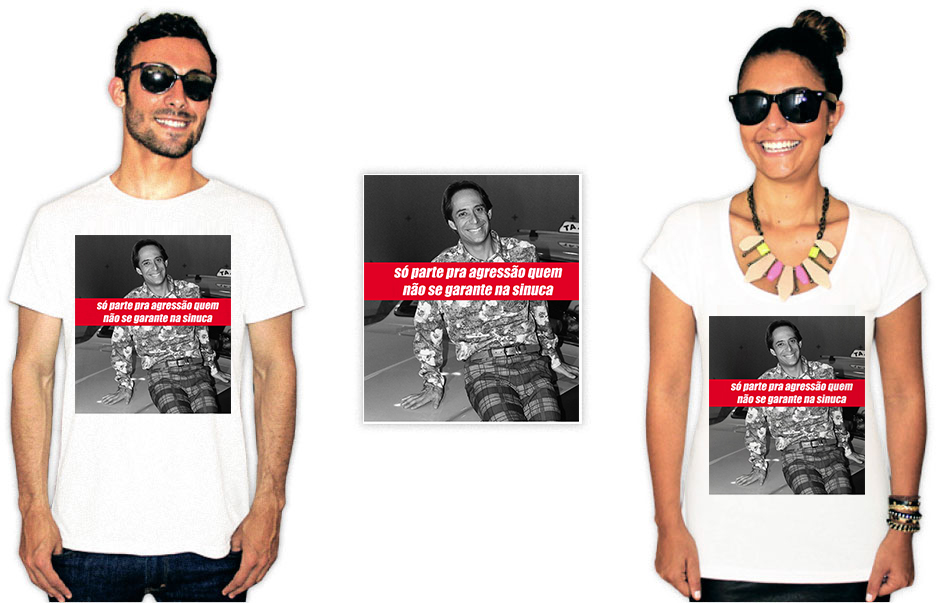 Camisetas com estampa do agostinho carrara sinuca