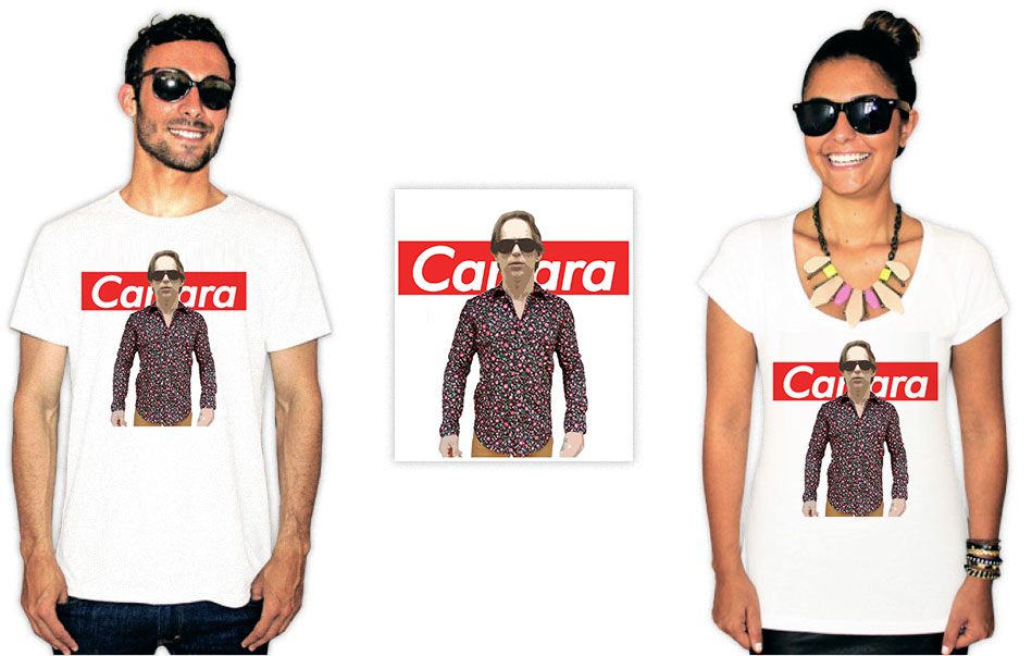 Camisetas com estampa do agostinho carrara fodao