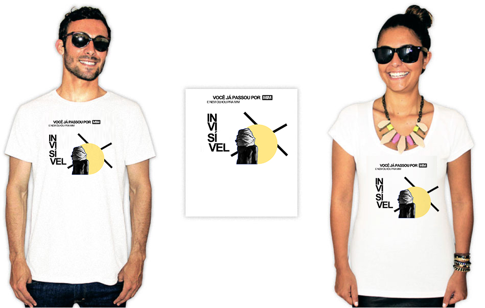 Camiseta com estampa do baiana system invisivel