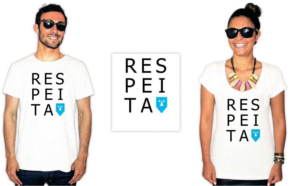 Camiseta com estampa do baiana system respeita