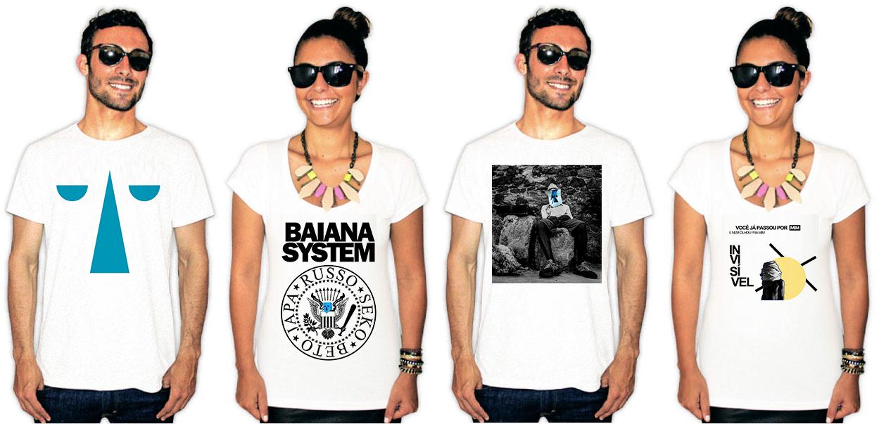 Camisetas estampa baiana system
