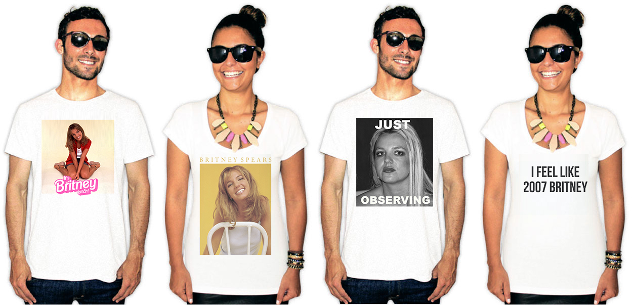 Camisetas estampa britney spears