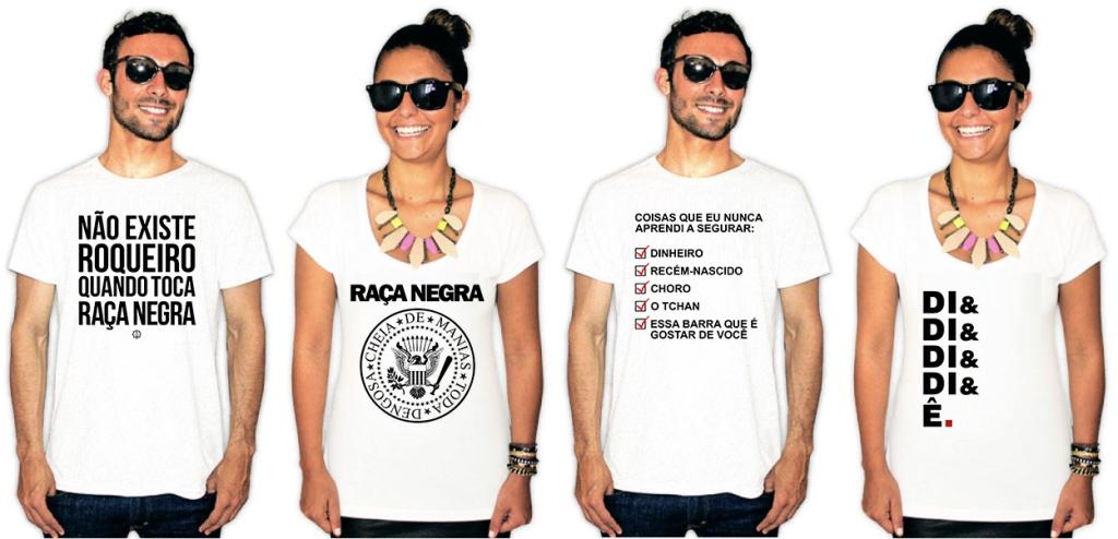 Camisetas com estampa da banda Raça Negra