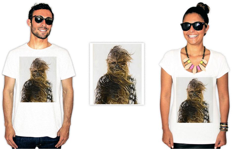 Camiseta com a estampa do filme star wars Chewbacca