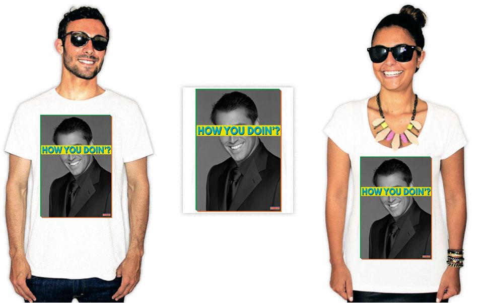 Camiseta com estampas da série Friends com a frase clássica do Joey How you doing?