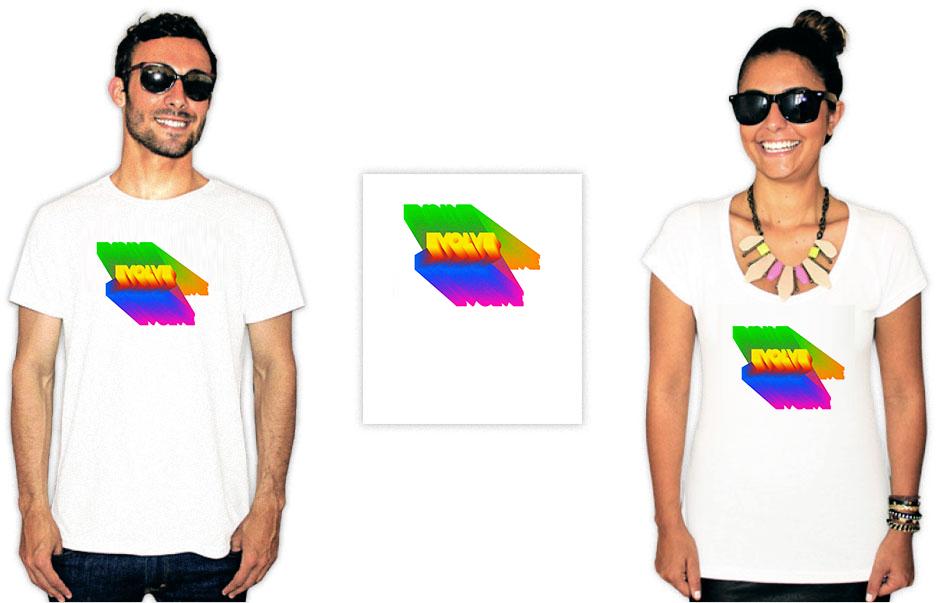 Pessoas usando camisetas com estampas da banda Brockhampton do album Evolve