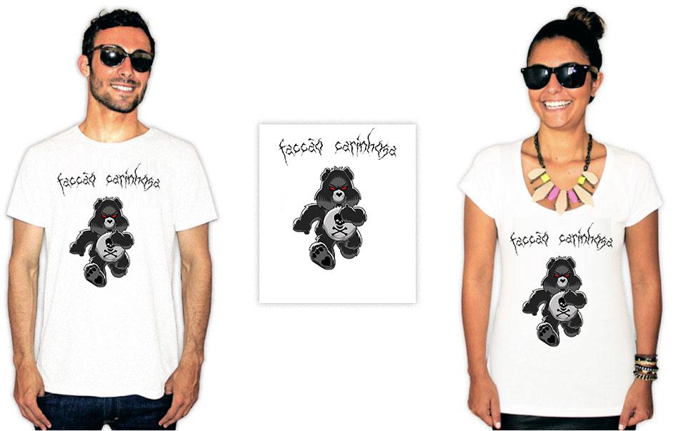 Camiseta com estampa de Baco exu do blues facção carinhosa