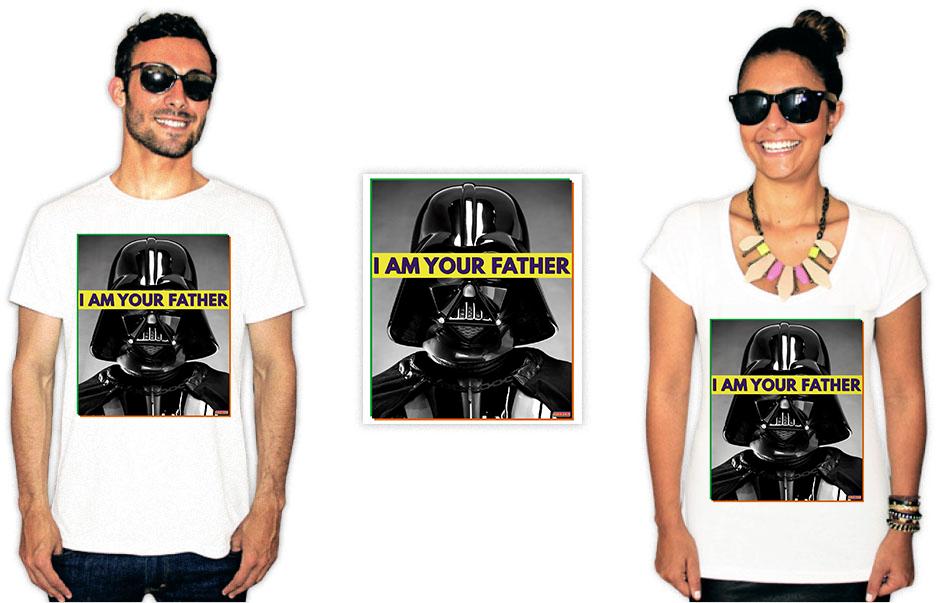 Camiseta com a estampa do filme star wars vader