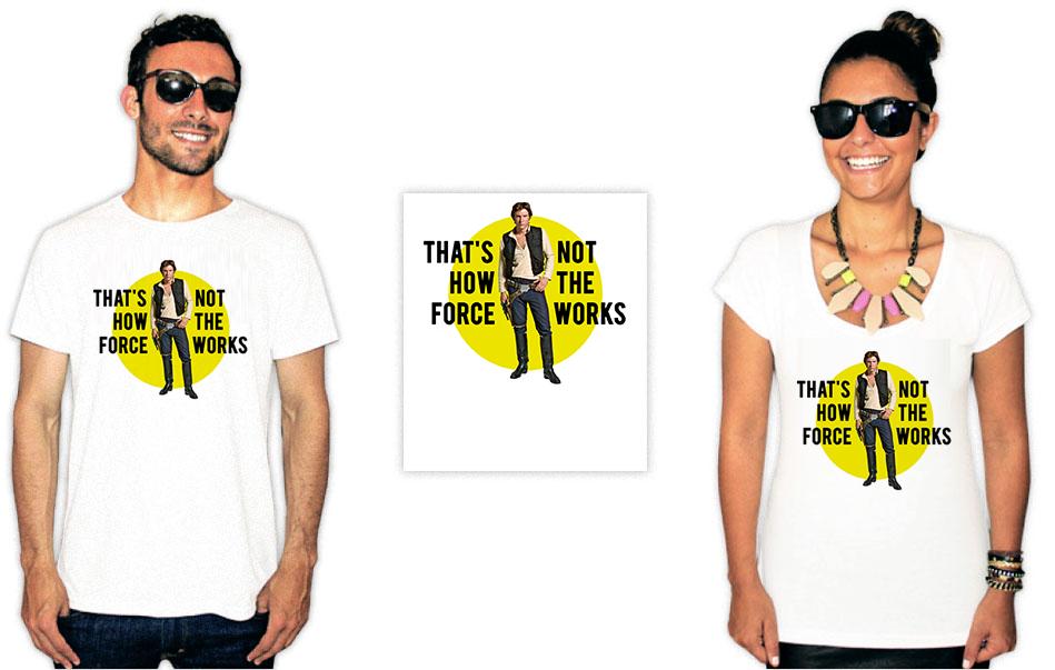 Camiseta com a estampa do filme star wars hans solo