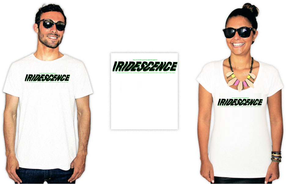 Pessoas usando camisetas com estampas da banda Brockhampton do album Iridescence