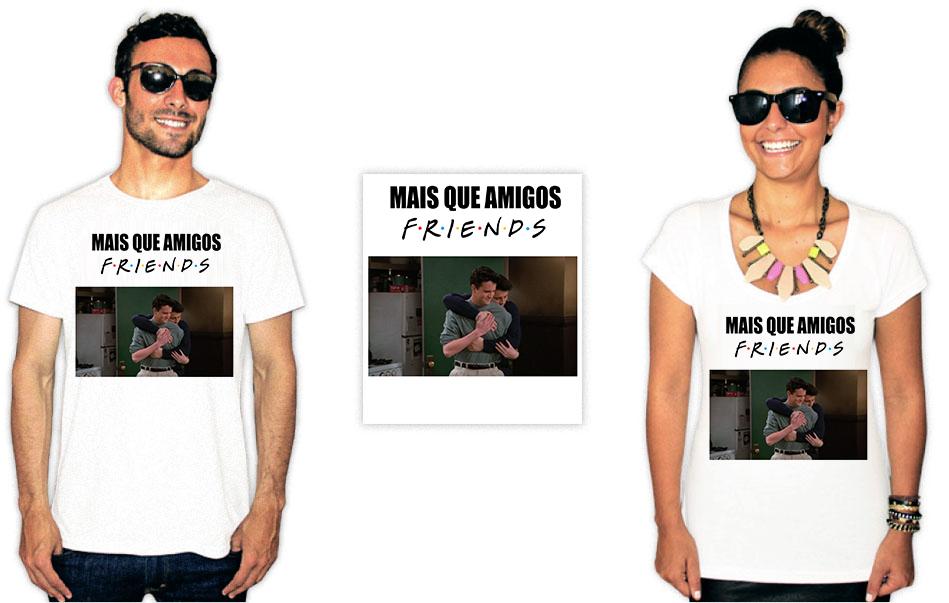 Camiseta com estampas da série Friends mais que amigos