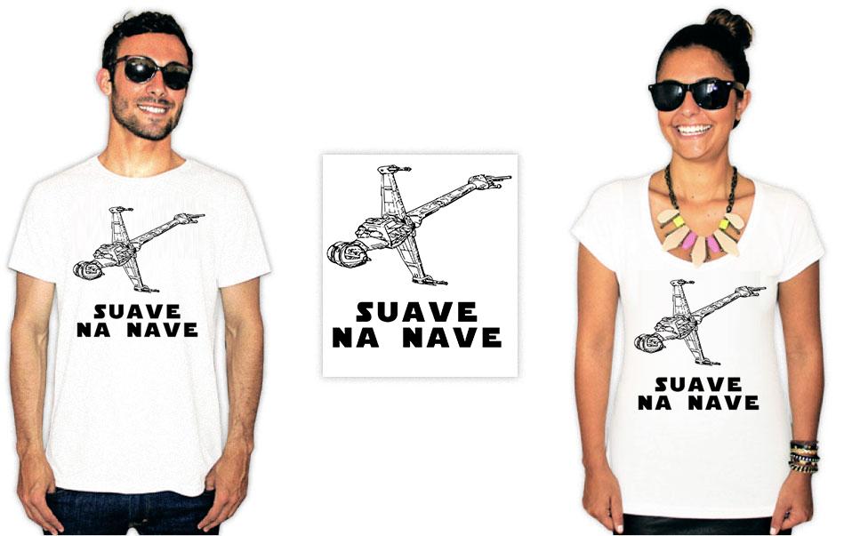 Camiseta com a estampa do filme star wars suave na nave