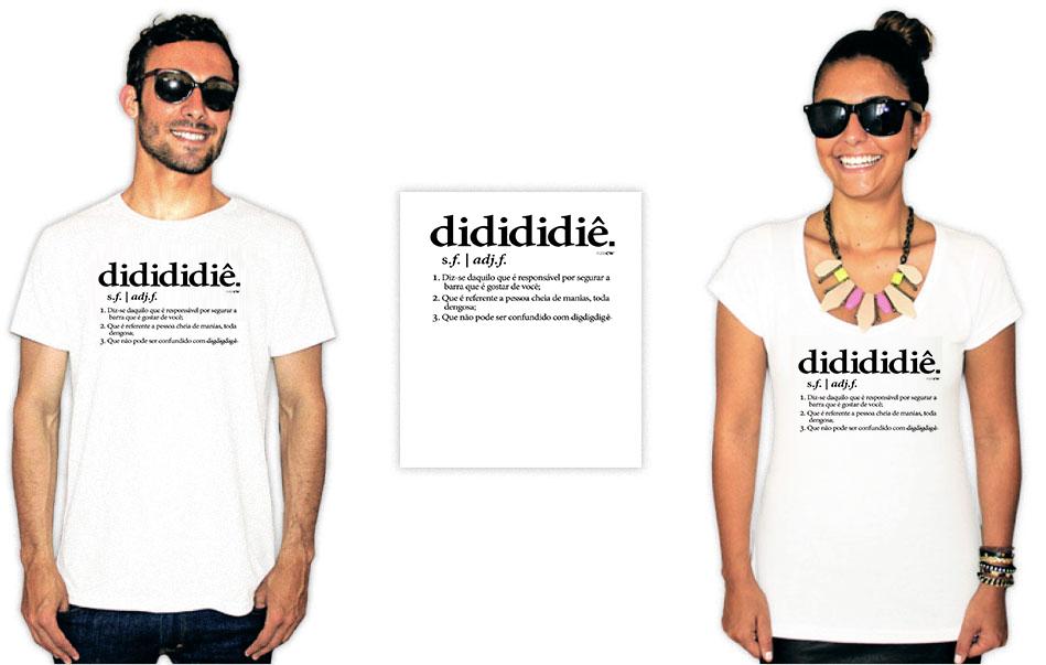Camiseta com estampa da banda Raça Negra didididiê