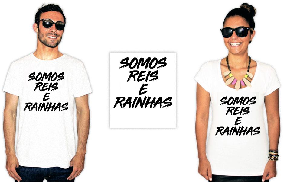 Camiseta com estampa de Baco exu do blues somos reis e rainhas