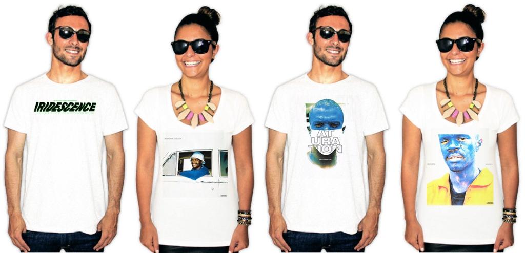 Pessoas usando camisetas com estampas da banda Brockhampton