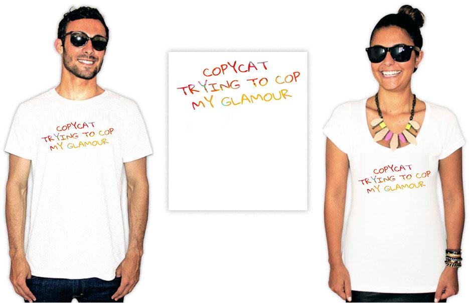 Camiseta com Estampa da cantora Billie Eilish Copycar
