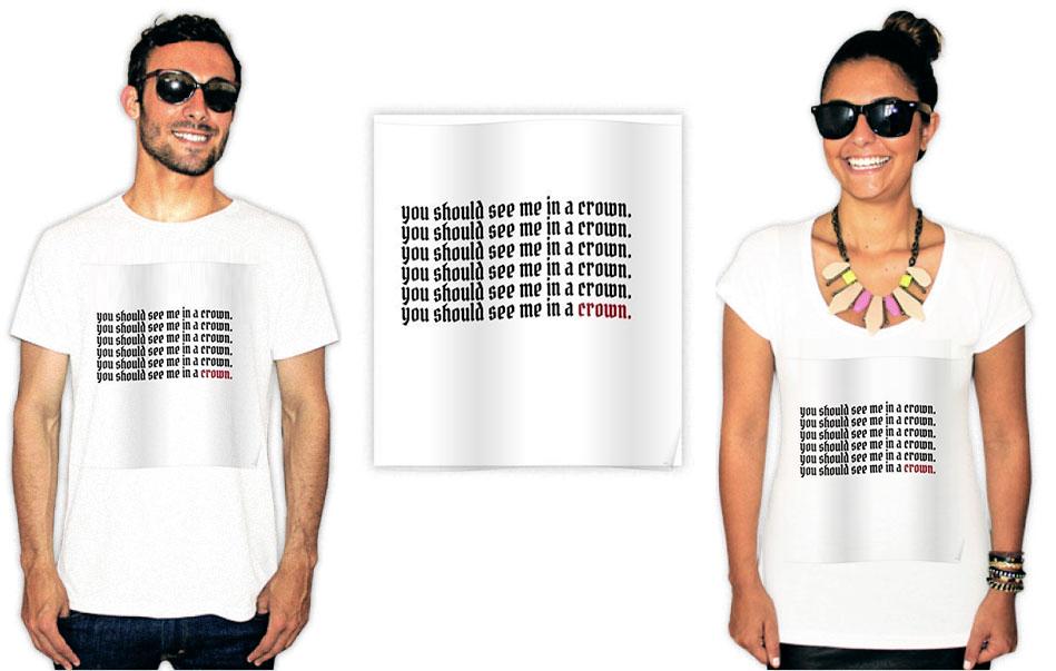 Camiseta com Estampa da cantora Billie Eilish Crown