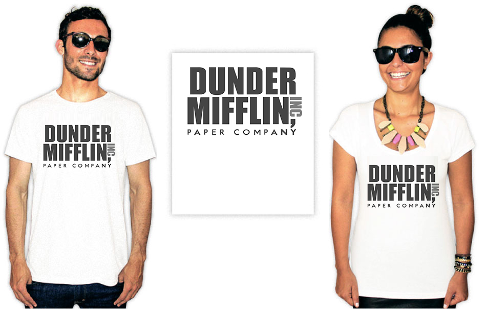 Camiseta com estampa do seriado The Office Dunder Mufflin