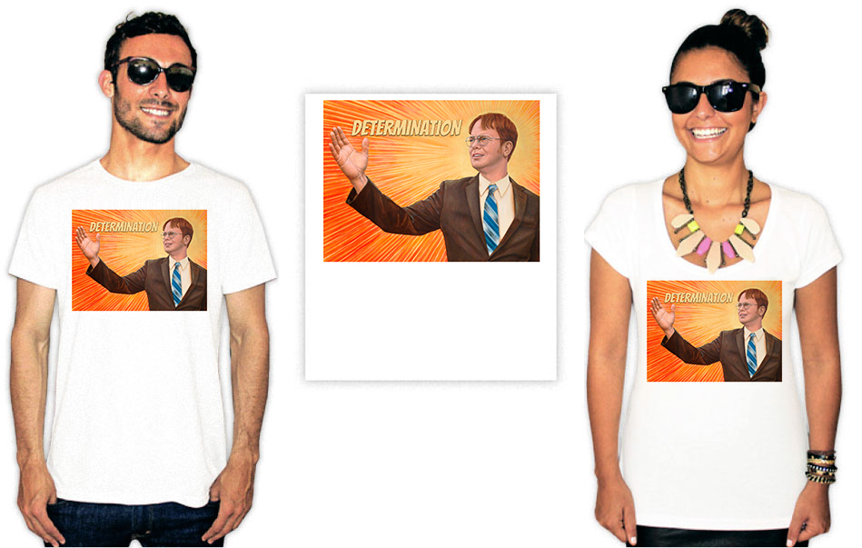 Camiseta com estampa do seriado The Office Determination