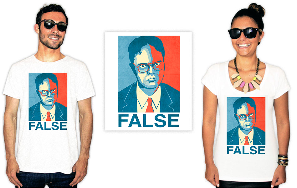 Camiseta com estampa do seriado The Office False