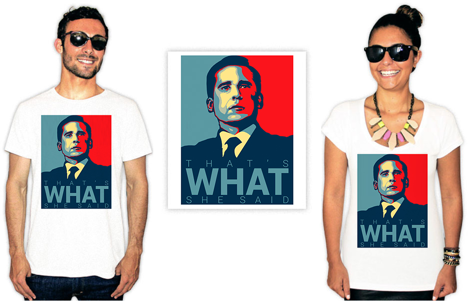 Camiseta estampa the office what she said