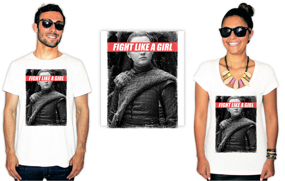 Camiseta Feminista com a estampa fight like a girl
