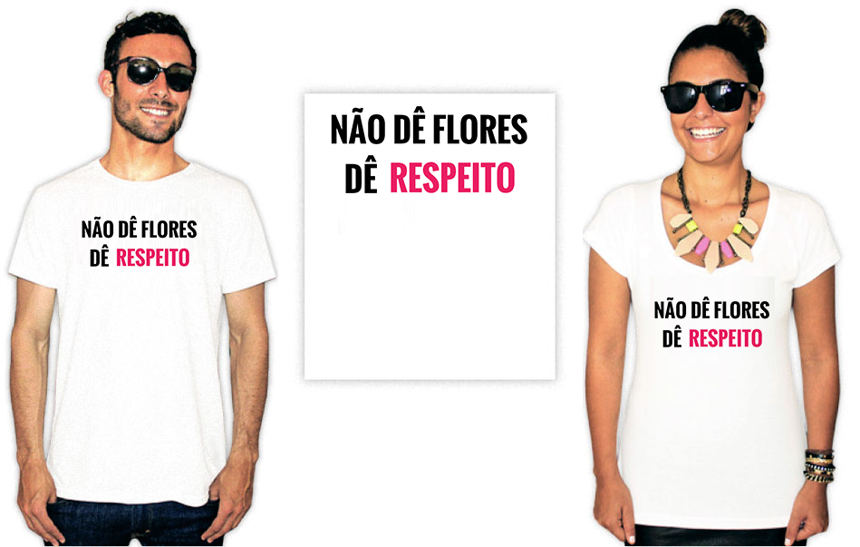 Camiseta Feminista com a estampa não dê flores dê respeito