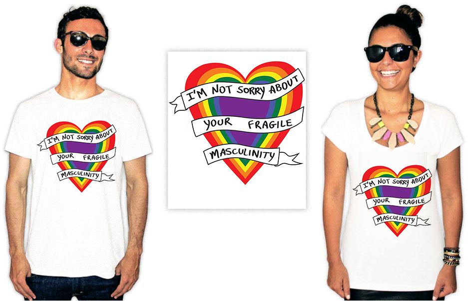 Camiseta Feminista com a estampa fragile masculinity