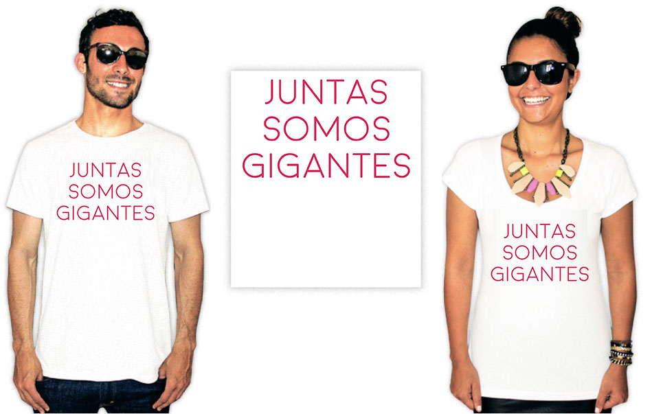 Camiseta Feminista com a estampa somos gigantes