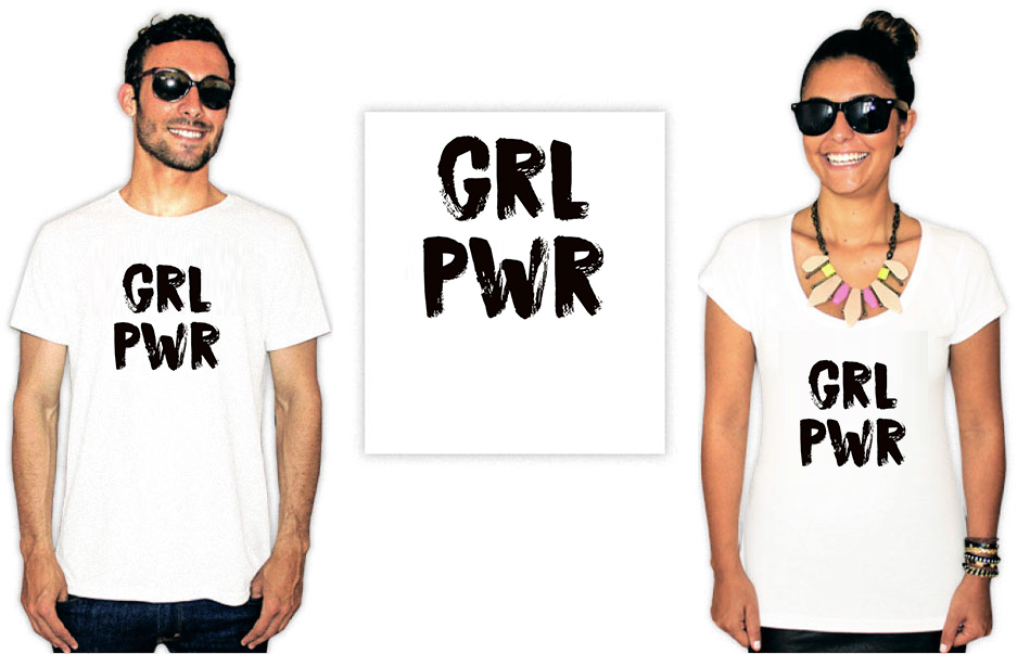 Camiseta Feminista com a estampa  girl power