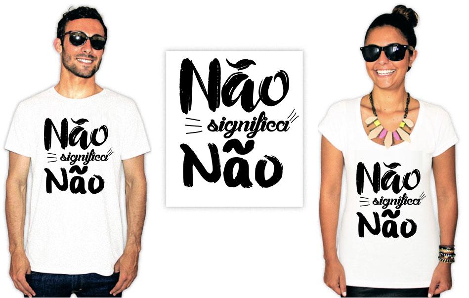 Camiseta Feminista com a estampa não significa não