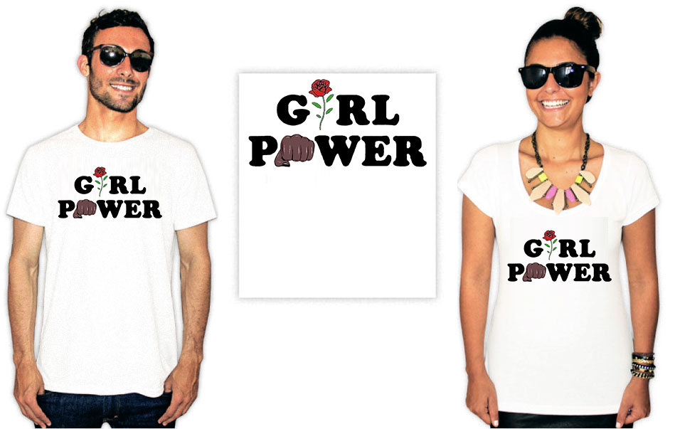 Camiseta Feminista com a estampa girl power black