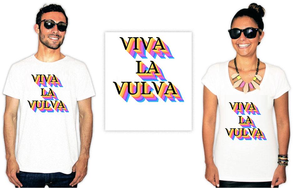 Camiseta Feminista com a estampa viva la vulva