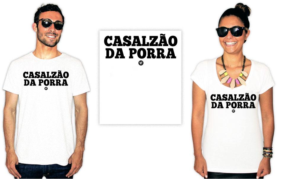 Camiseta Dia dos namorados Casalzão da porra