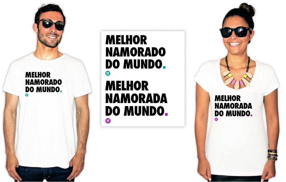 Camiseta dia dos namorados melhor namorado namorada do mundo