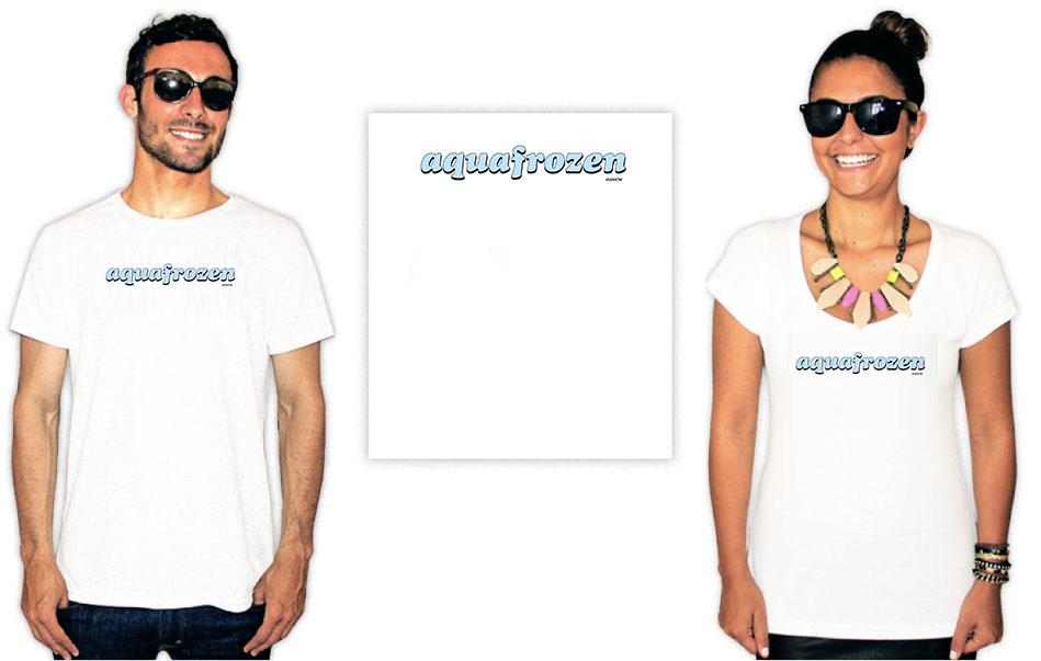 Camiseta com a estampa Aquariana Aquafrozen