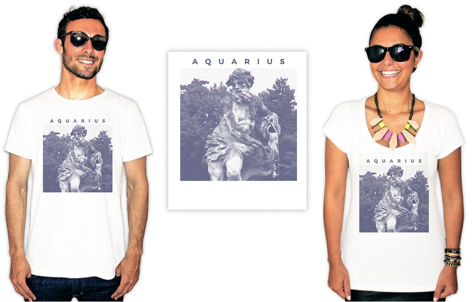 Camiseta com a estampa Aquariana Aquarius