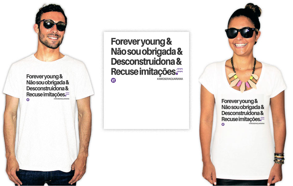 Camiseta com a estampa Aquariana Forever Young