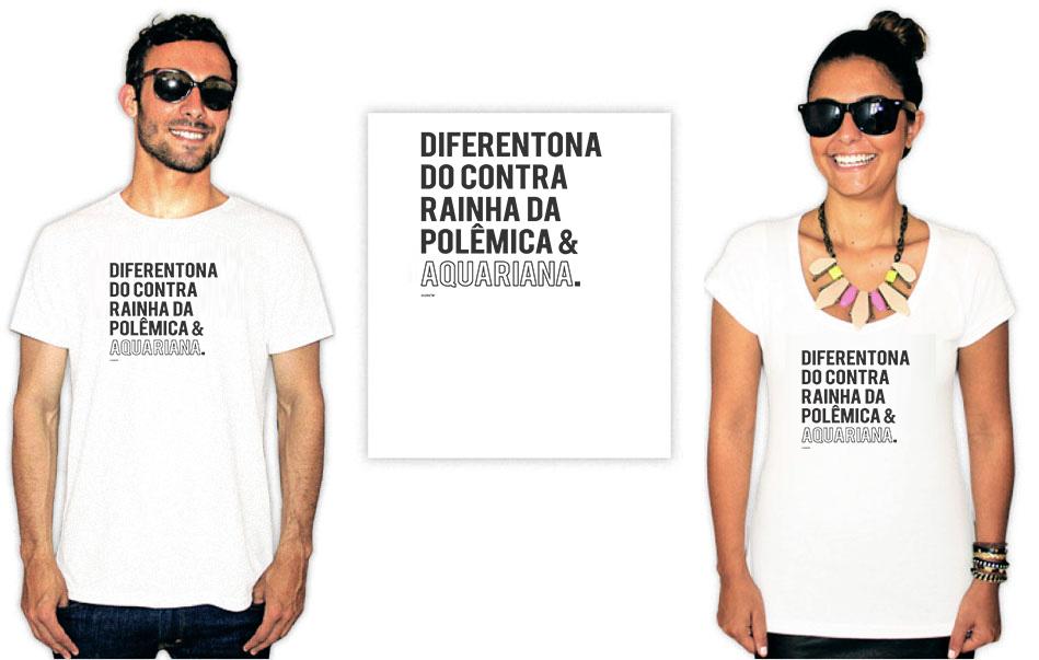 Camiseta com a estampa Aquariana  Diferentona